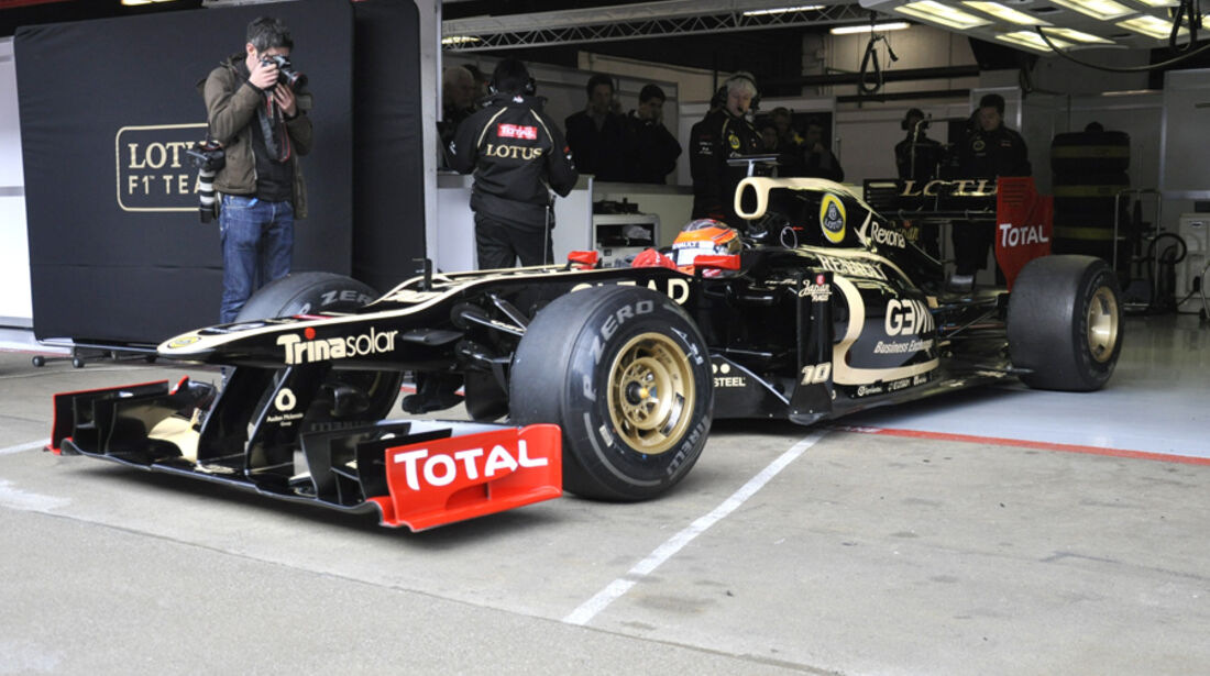 Formel 1-Test, Barcelona, 02.03.2012, Romain Grosjean, Lotus Renault GP
