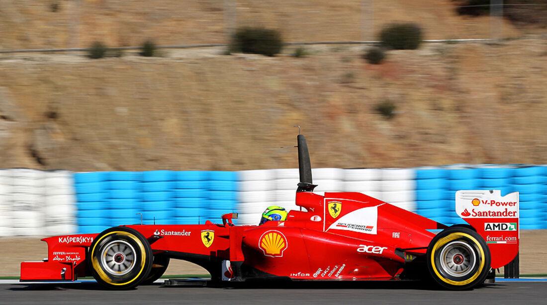 Formel 1-Test, Jerez, 8.2.2012, Felipe Massa, Ferrari