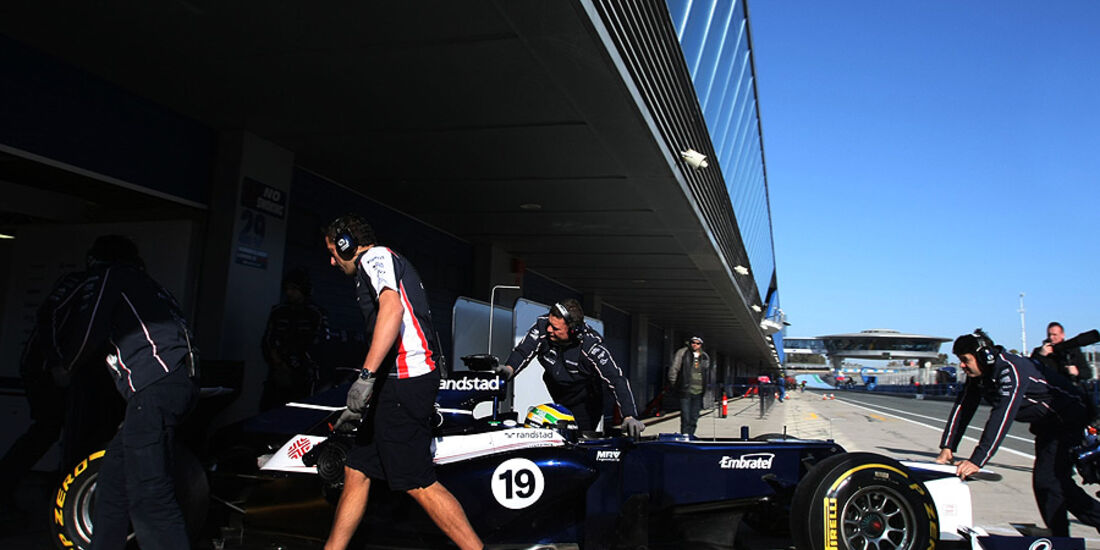 Formel 1-Test, Jerez, 9.2.2012, Bruno Senna, Williams