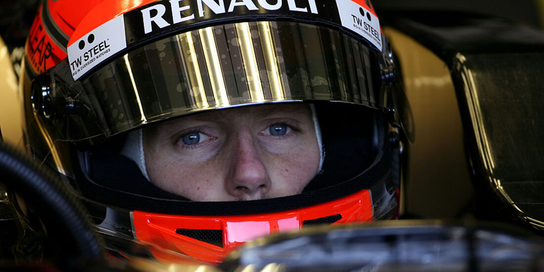 Formel 1-Test, Jerez, 9.2.2012, Romain Grosjean, Lotus Renault GP