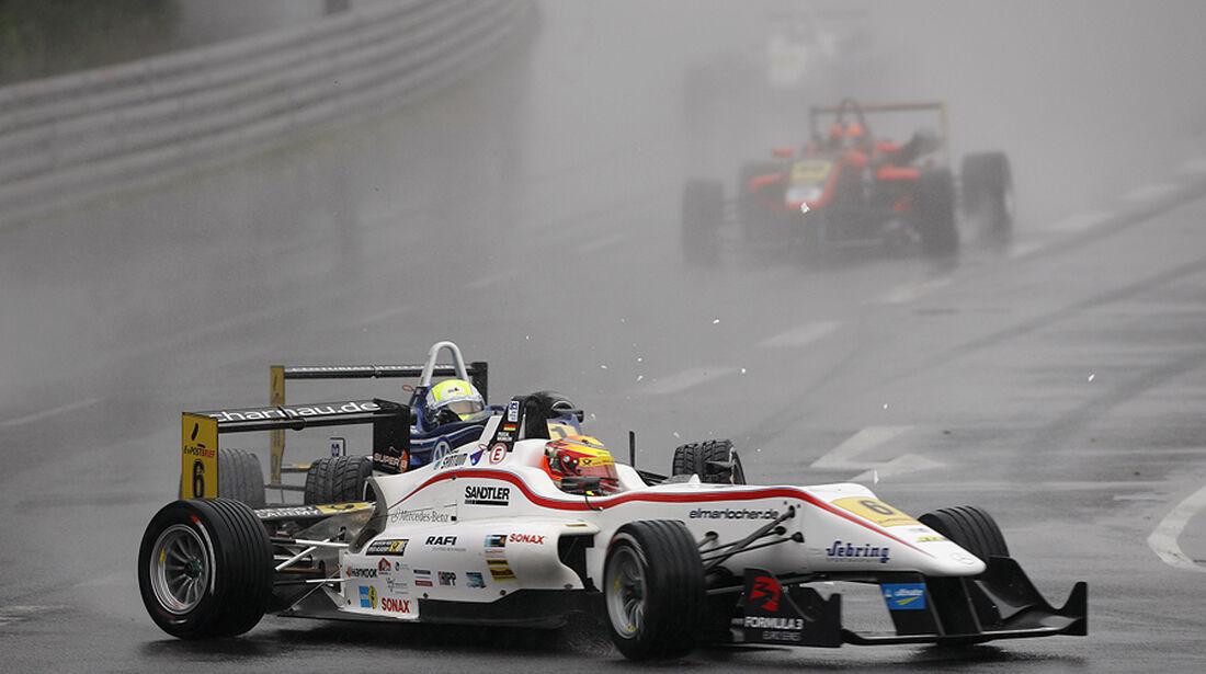 Formel 3 2012 Norisring, Start, William Buller crashing into Pascal Wehrlein