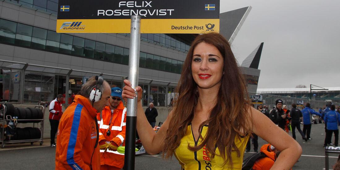 Formel 3 Silverstone 2013 Girl Rosenqvist