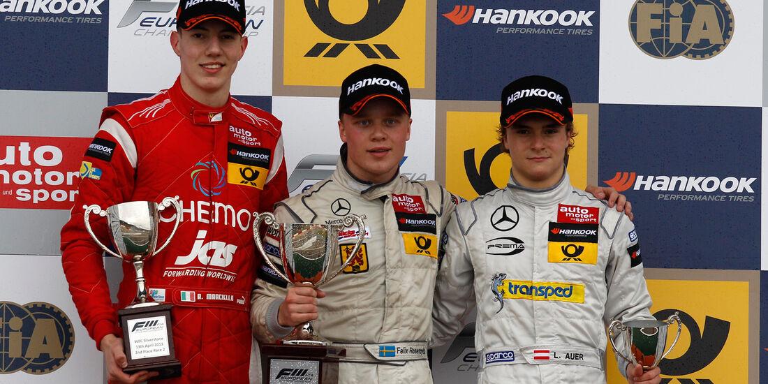 Formel 3 Silverstone 2013 Marciello Rosenqvist Auer
