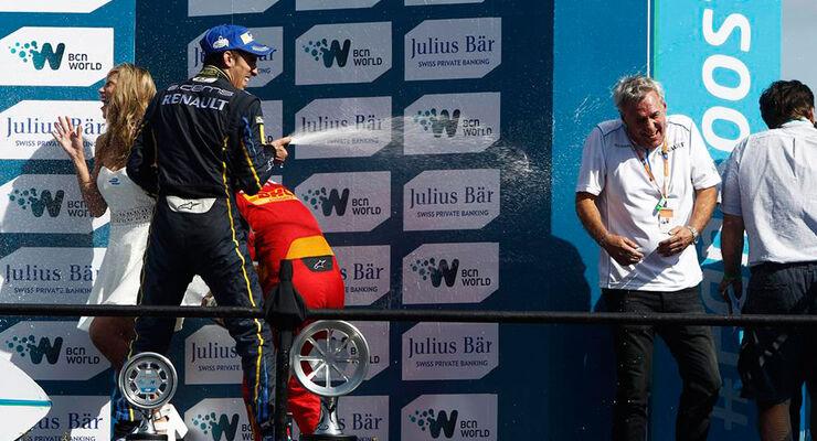 Formel E - Punta del Este - Rennen - Buemi - Podest - 13.12.2014