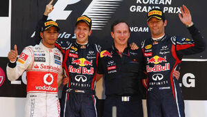 Formula 1 Grand Prix, Korea, Sunday Podium