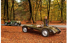 Frazer Nash Le Mans Replica, Frazer Nash Mille Maglia, beide Fahrzeuge