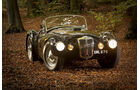 Frazer Nash Le Mans Replica, Frontansicht, Scheinwerfer an