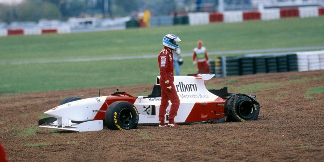 GP Argentinien 1995 Häkkinen Crash
