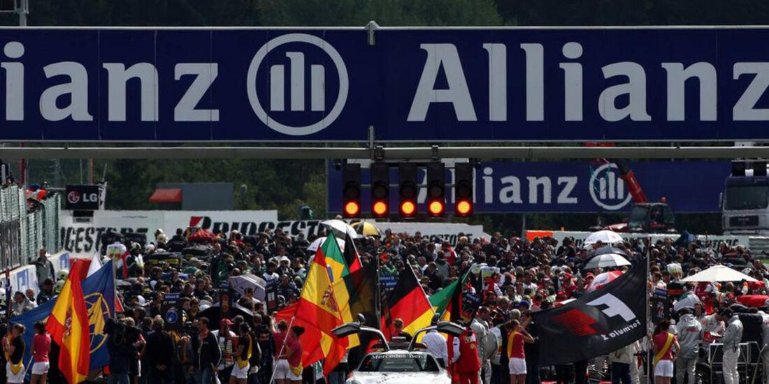 GP Belgien-Startaufstellung