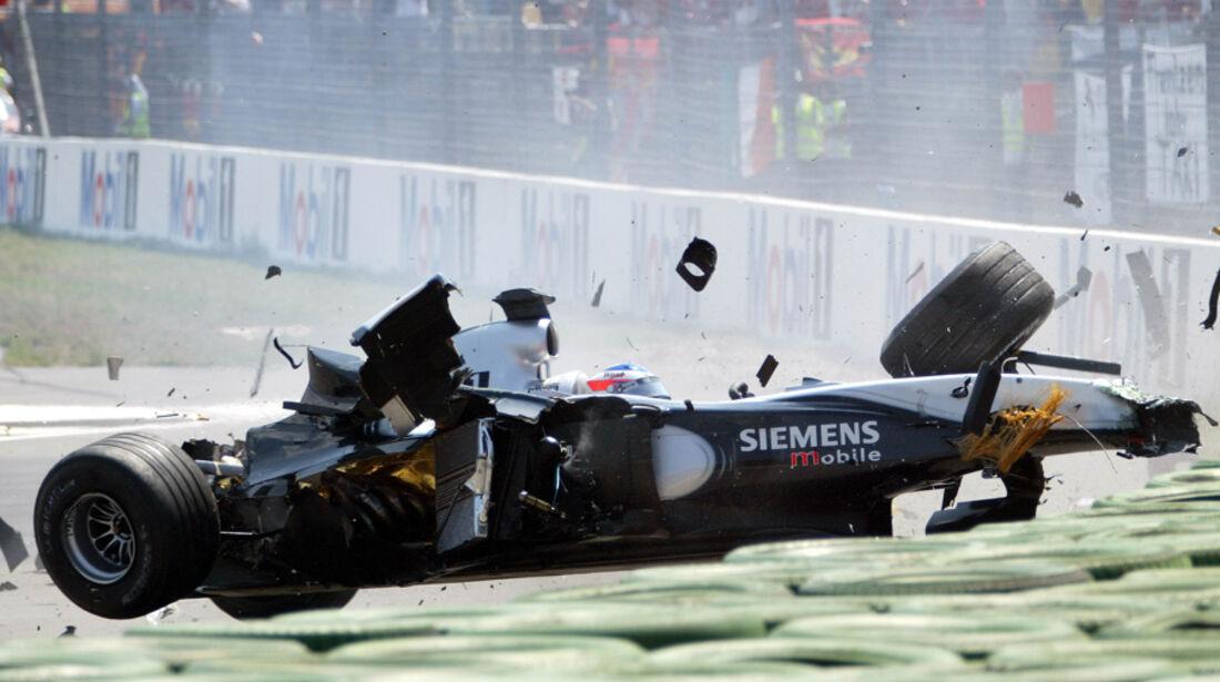 GP Deutschland 2003 Räikkönen Crash
