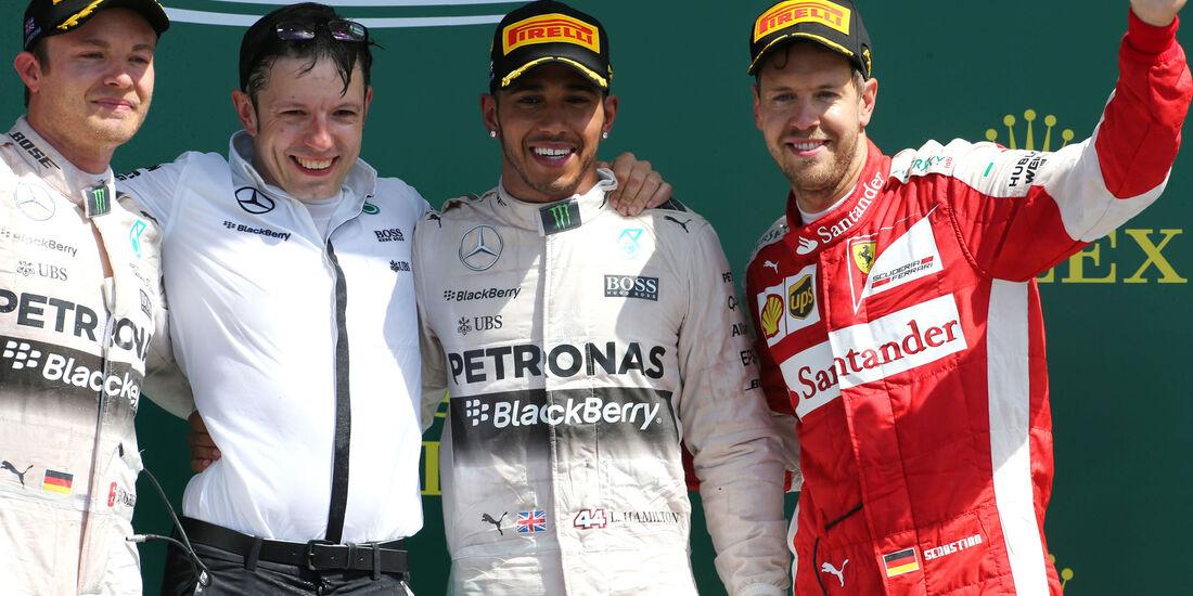 GP England 2015 - Silverstone - Podium