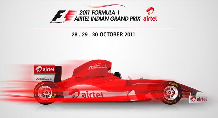 GP Indien 2011 - Plakat