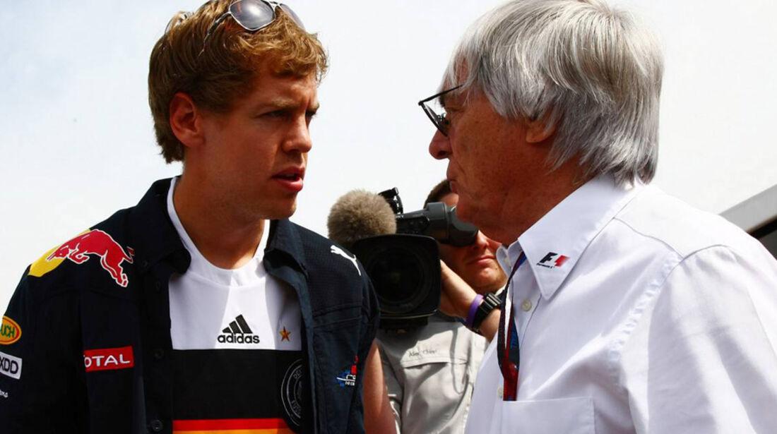 GP Kanada 2010 Vettel Ecclestone