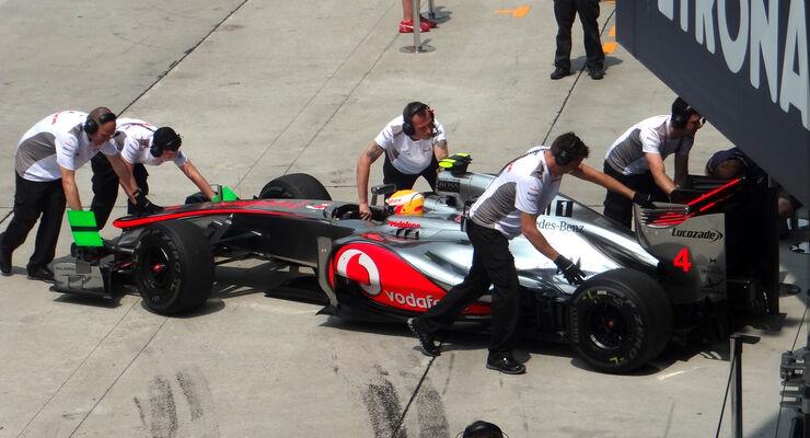 GP Malaysia Lewis Hamilton McLaren 2012