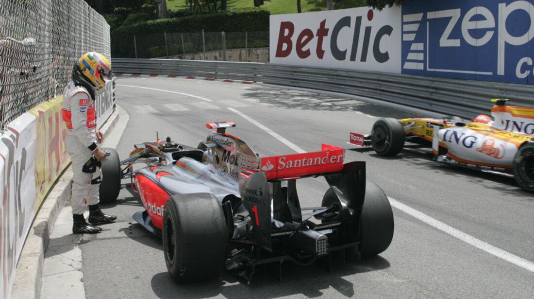 GP Monaco 2009 Lewis Hamilton Crash