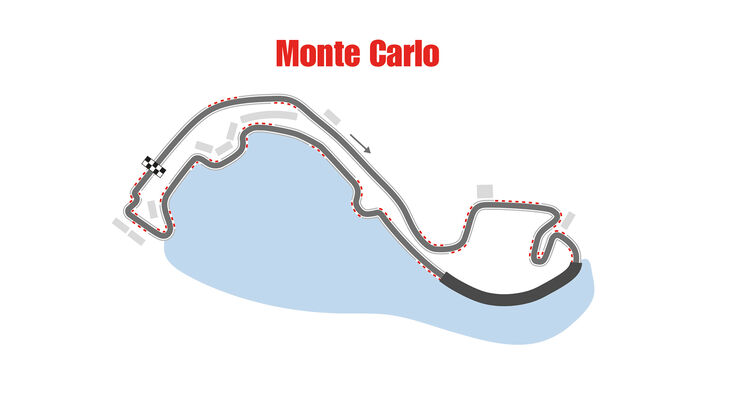 GP Monaco - Formel 1 - Rennstrecke