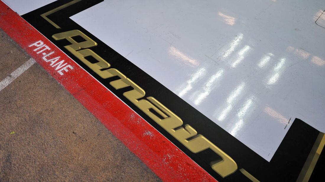 Garage, Lotus, Formel 1-Test, Barcelona, 21. Februar 2013