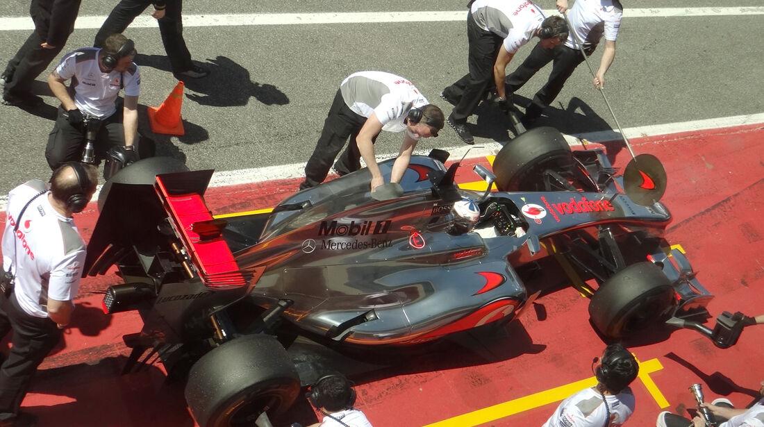 Gary Paffet Formel 1 Mugello Test 2012 McLaren