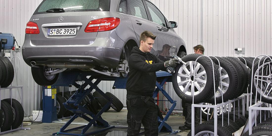 Gebrauchtwagenkauf, Reifenwechsel