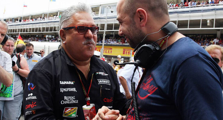 Gerard Lopez Vijay Mallya Lotus  Force India Formel 1 2014