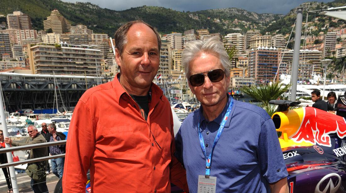 Gerhard Berger & Michael Douglas - GP Monaco 2013 - VIPs & Promis
