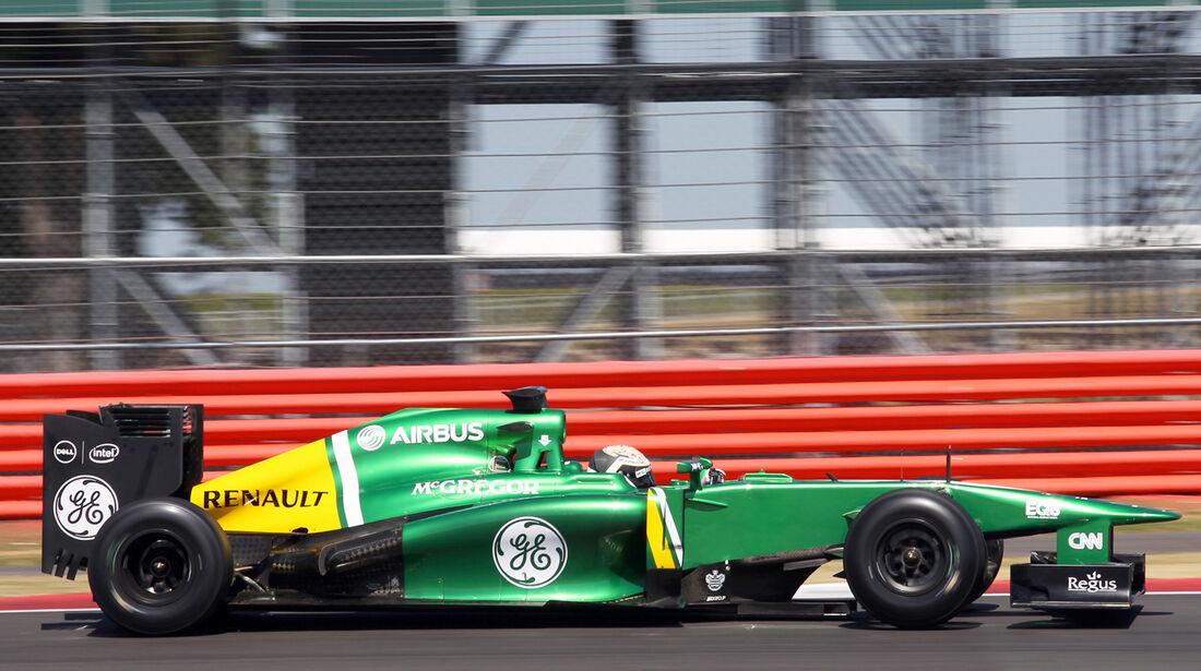 Giedo van der Garde - Caterham - Young Drivers Test - Silverstone - 19. Juli 2013
