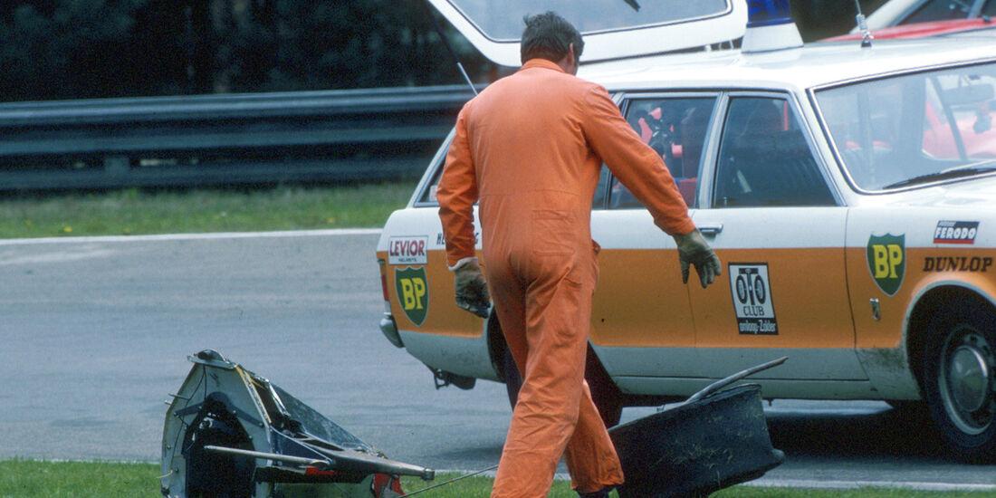 Gilles Villeneuve Unfall GP Belgien Zolder 1982 Ferrari