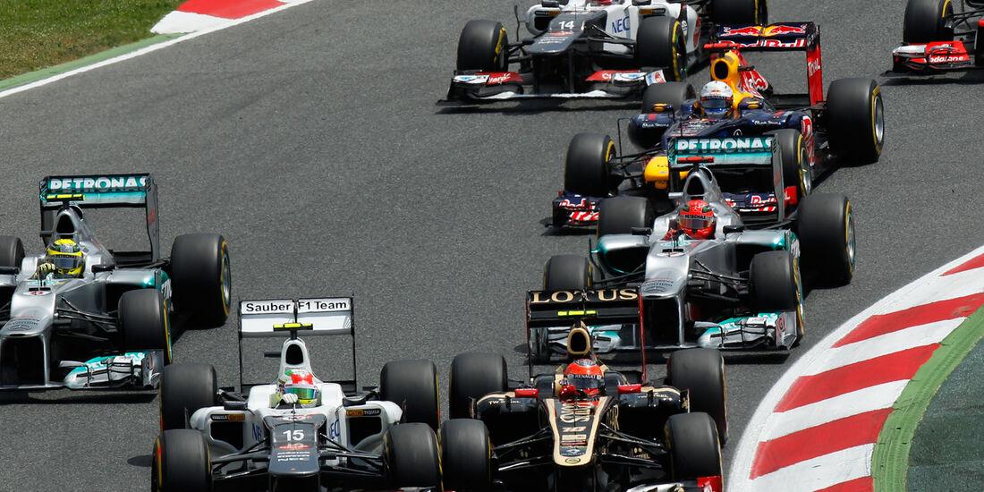 Grosjean Perez GP Spanien 2012