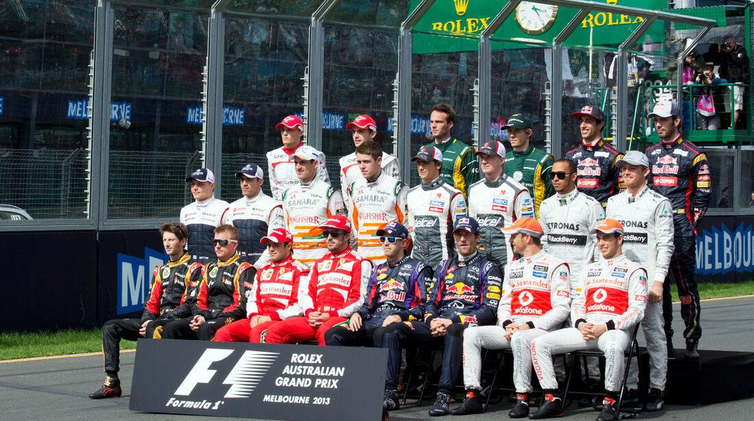 Gruppenfoto - GP Australien 2013