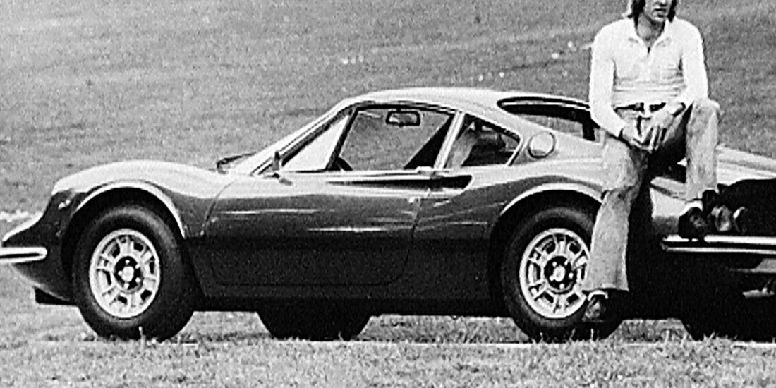 Günter Netzer mit Ferrari Dino