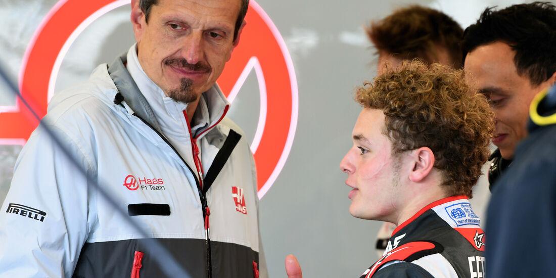Guenther Steiner & Santino Ferrucci - Formel 1 - Silverstone-Test - 12. Juli 2016
