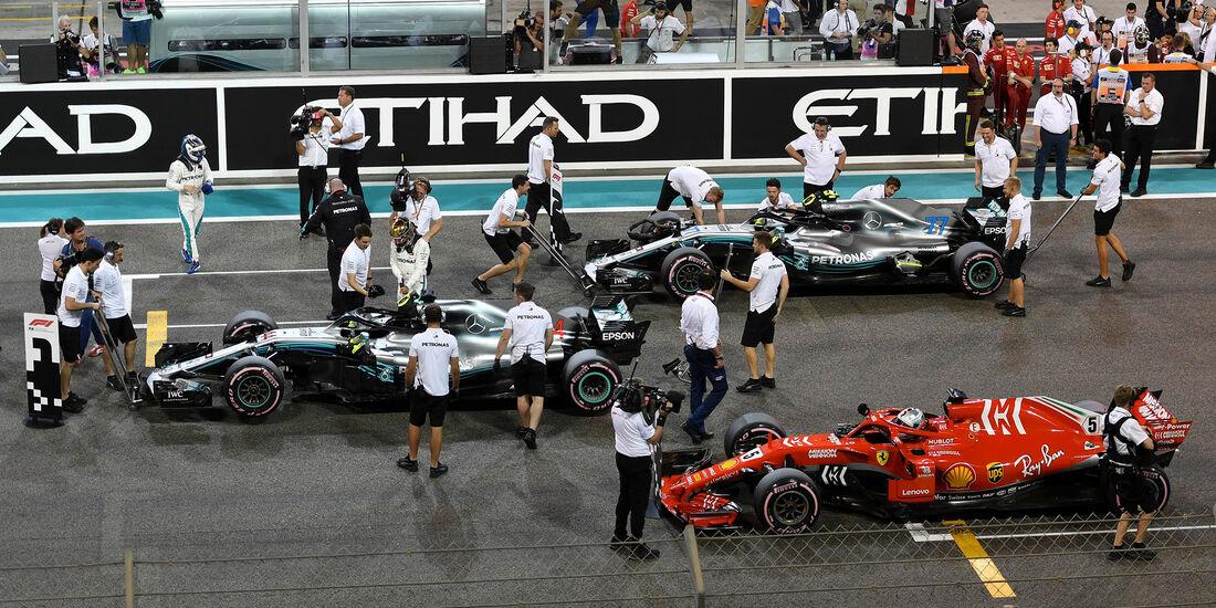 Hamilton, Bottas & Vettel - Formel 1 - GP Abu Dhabi  -24. November 2018