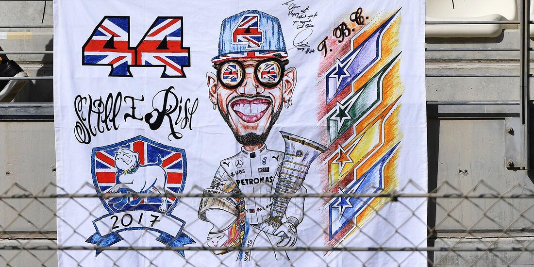 Hamilton-Fans - Formel 1 - GP Abu Dhabi - 24. November 2017