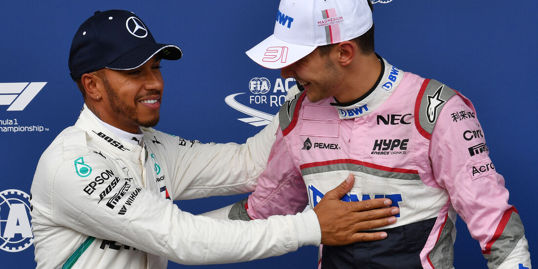 Hamilton & Ocon - Force India - Formel 1 - GP Belgien - Spa-Francorchamps - 25. August 2018