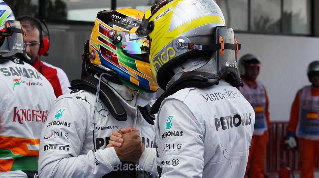 Hamilton & Rosberg - Formel 1 - GP Spanien - 11. Mai 2013