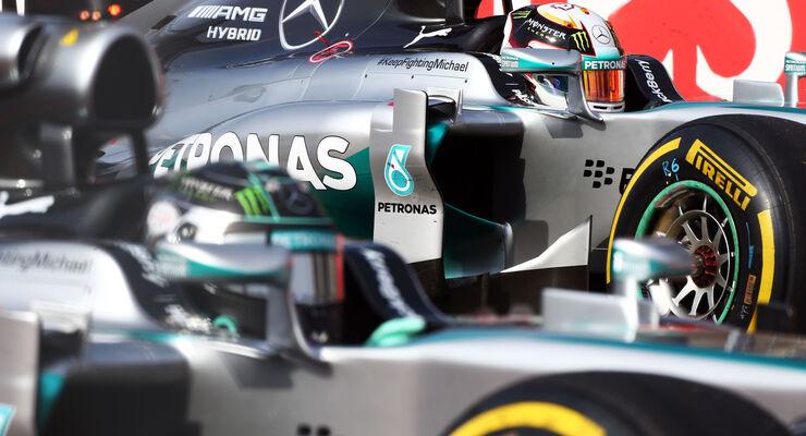 Hamilton & Rosberg - GP USA 2014