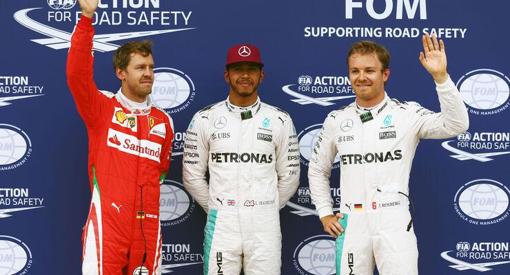 Hamilton - Rosberg - Vettel - GP Kanada 2016 - Qualifying - Montreal