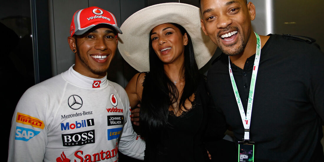Hamilton, Scherzinger & Will Smith - Formel 1 - GP Monaco - 26. Mai 2012