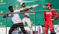 Hamilton - Usain Bolt - GP USA 2017 - Rennen