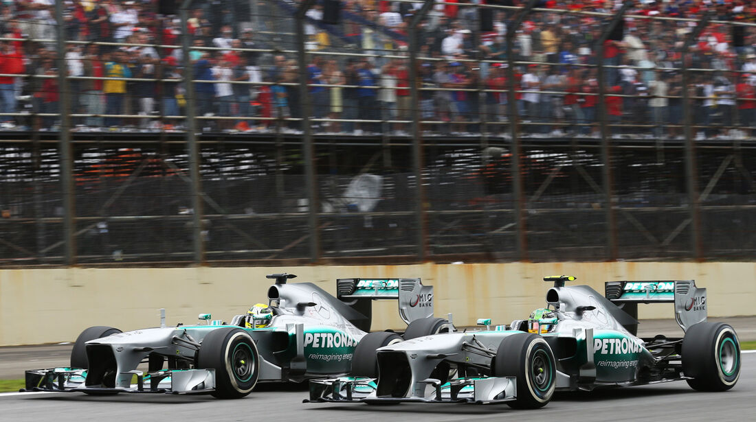 Hamilton vs. Rosberg - GP Brasilien 2013