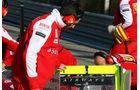 Heckflügel-Test Ferrari