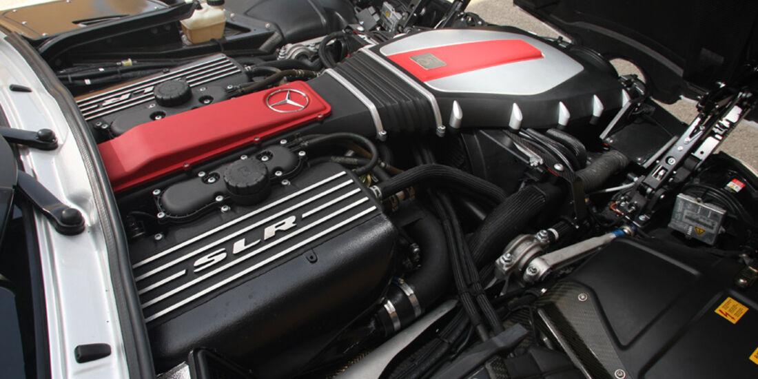 Highspeed-Test, Nardo, ams1511, 391km/h, MKB Mercedes SLR McLaren, Motor, Motorraum