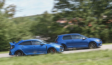 Honda Civic Type R, VW Golf R 2.0 TSI 4 Motion, Exterieur Seite