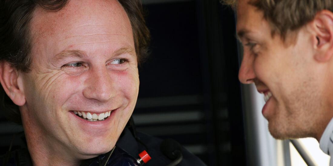 Horner & Vettel - GP Europa - Formel 1 - Valencia - 22. Juni 2012