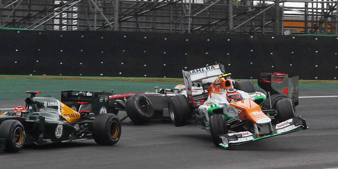 Hülkenberg - Crash - GP Brasilien 2012