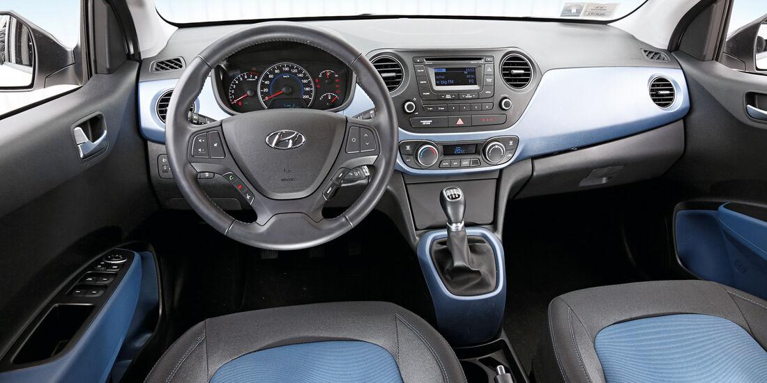 Hyundai I10 Blue 1.0, Cockpit