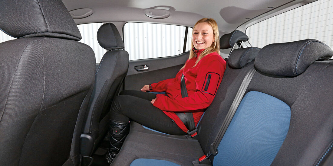 Hyundai I10 Blue 1.0, Fondsitz, Beinfreiheit
