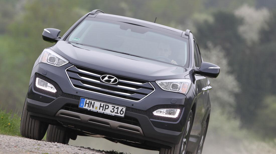 Hyundai Santa Fe 2.2 CR Di 4WD, Frontansicht