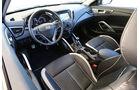 Hyundai Veloster 1.6 Turbo, Cockpit, Lenkrad