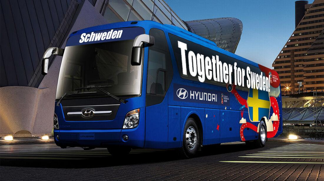 Hyundai WM-Busse Slogan Schweden